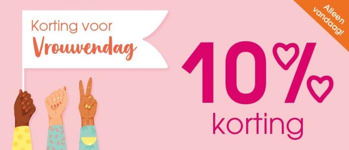 Pink or Blue actie 10% nationale vrouwendag